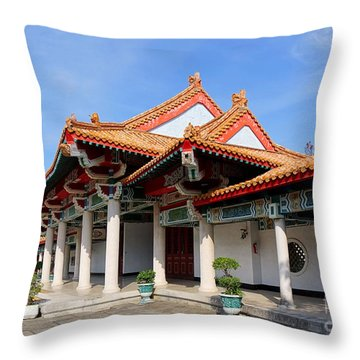 Throw Pillow featuring the photograph The Martyr Shrine In Kaohsiung City by Yali Shi