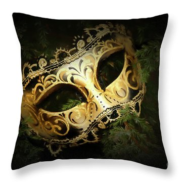 Throw Pillow featuring the photograph The Mask by Darren Fisher