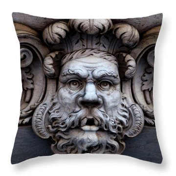 Throw Pillow featuring the photograph The Mask by Lorraine Devon Wilke