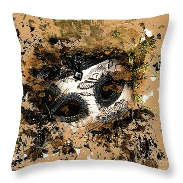 The Mask Of Fiction Throw Pillow
