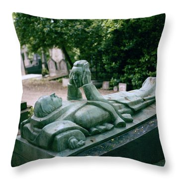 The Mask Of Meditation Throw Pillow by Shaun Higson