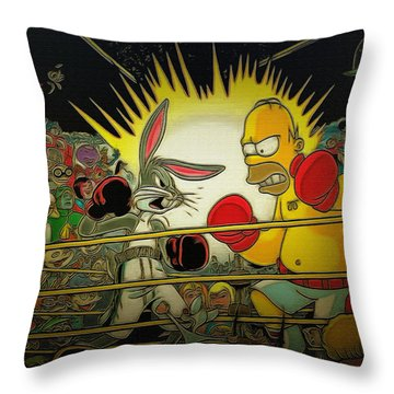 The Match Of The Century Throw Pillow