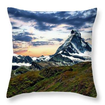 The Matterhorn Throw Pillow