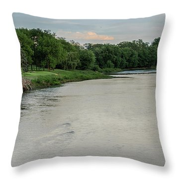 The Maumee River Throw Pillow