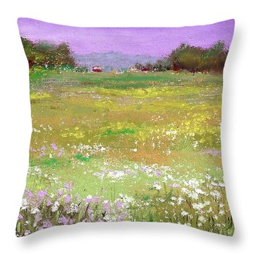 The Meadow Throw Pillow by David Patterson