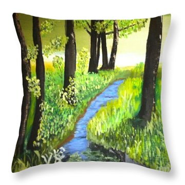 The Meadow Throw Pillow by Rod Jellison