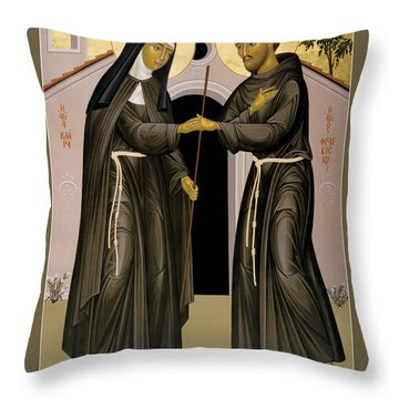 The Meeting Of Sts. Francis And Clare - Rlfac Throw Pillow