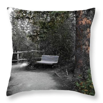Throw Pillow featuring the digital art The Meeting Place by Stuart Turnbull