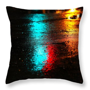 The Memory Lane Throw Pillow by Prakash Ghai