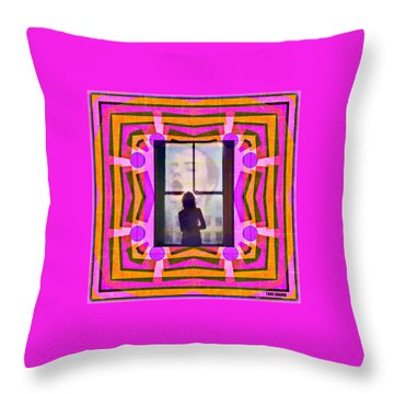 The Memory Of That Kiss Throw Pillow by Tony Adamo