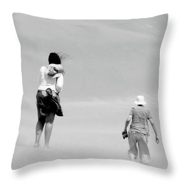 The Men Return Throw Pillow