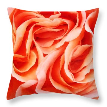The Menage A Trois Throw Pillow by Steve Taylor
