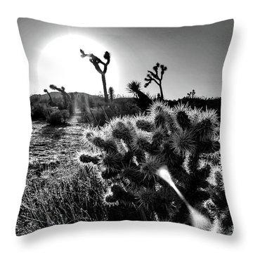 Merciless, Black And White Throw Pillow