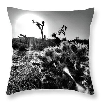 Merciless, Black And White Throw Pillow