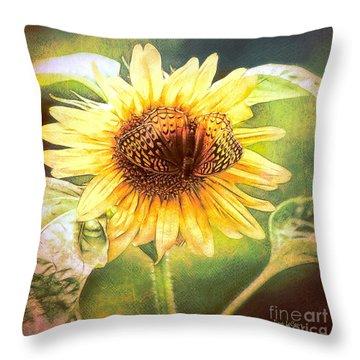 The Merge Throw Pillow by Tina LeCour