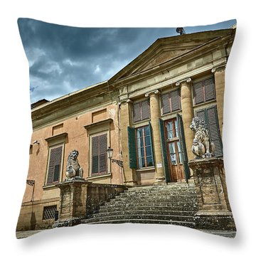 The Meridian Palace In The Pitti Palace Throw Pillow