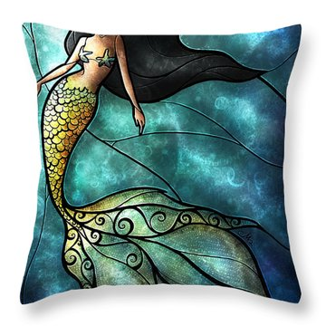 The Mermaid Throw Pillow