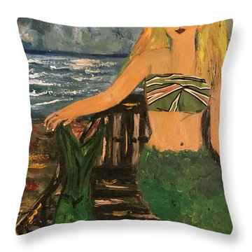 The Mermaid Of Kanaha Pond Throw Pillow