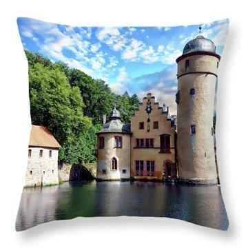 The Mespelbrunn Castle Throw Pillow