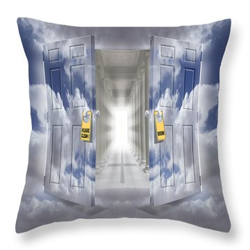 The Message Throw Pillow by Mike McGlothlen