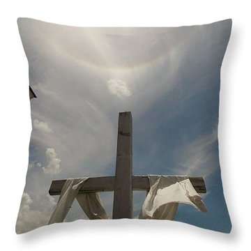 The Message Of The Cross Throw Pillow