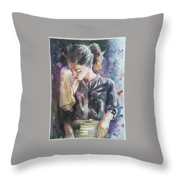 The Messy Chef Throw Pillow