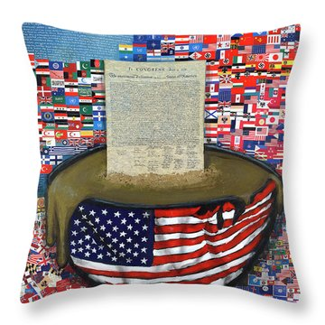 The Metling Pot Throw Pillow