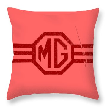 The Mg Sign Throw Pillow
