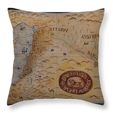 Throw Pillow featuring the photograph The Middle East by Mae Wertz