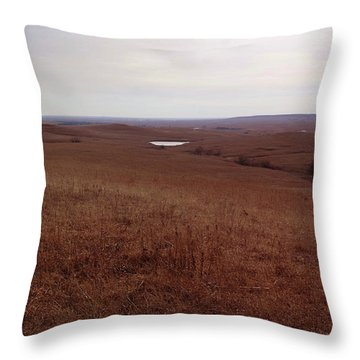 The Middle Of The Flint Hills Throw Pillow