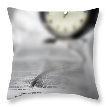 The Midnight Cry Throw Pillow by Gray  Artus