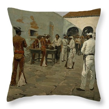 The Mier Expedition The Drawing Of The Black Bean  Throw Pillow