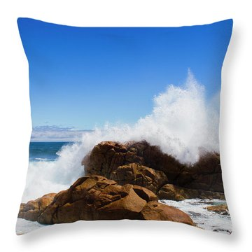 Throw Pillow featuring the photograph The Might Of The Ocean by Jorgo Photography - Wall Art Gallery