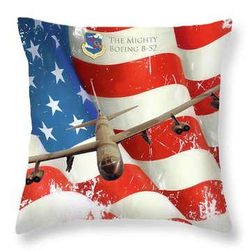 The Mighty B-52 Throw Pillow