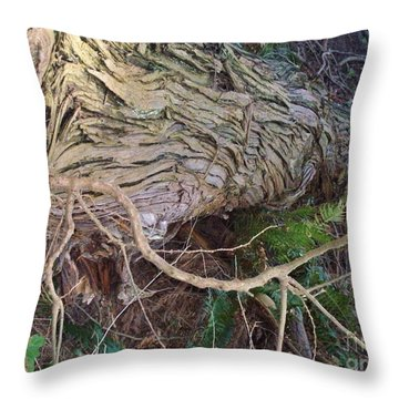 The Mighty Has Fallen Throw Pillow by Mary Mikawoz