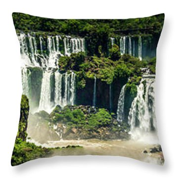 Throw Pillow featuring the photograph The Mighty Iguazu  by Andrew Matwijec