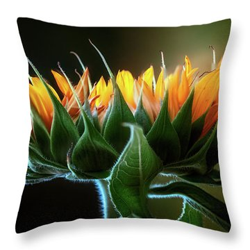 The Mighty Sunflower Throw Pillow
