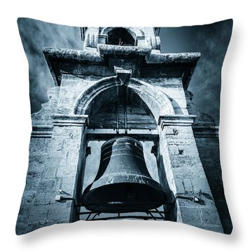 The Miguelete Bell Tower Valencia Spain Throw Pillow