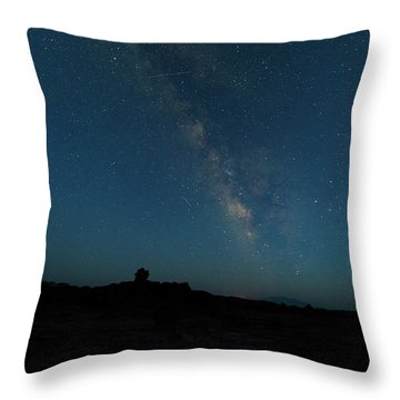 Throw Pillow featuring the photograph The Milky Way At Goblin Valley by Jim Thompson