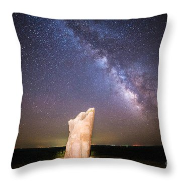 The Milky Way At Teter Rock Throw Pillow by Jean Hutchison