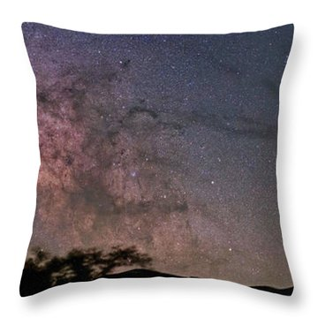 The Milky Way Core Throw Pillow