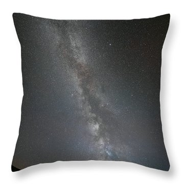 The Milky Way - Our Home In Space. Throw Pillow