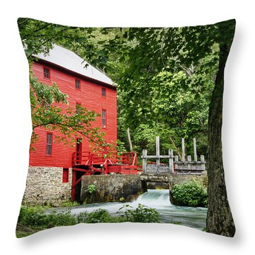 The Mill At Alley Spring Throw Pillow