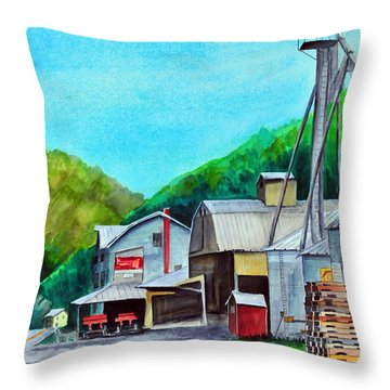 The Mill At Shade Gap II Throw Pillow