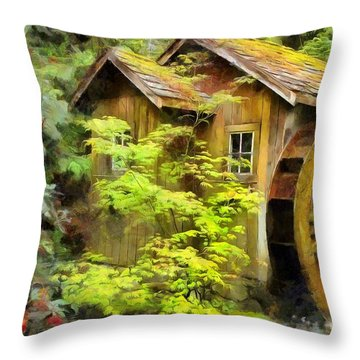 The Mill Throw Pillow by Eva Lechner