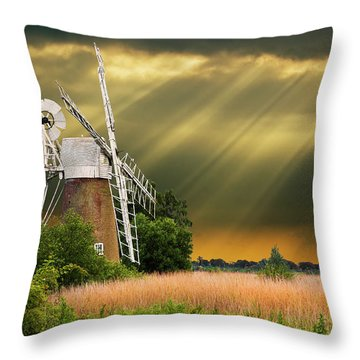 The Mill On The Marsh Throw Pillow