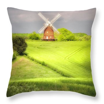 The Mill Uphill Throw Pillow