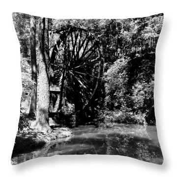 The Mill Wheel Throw Pillow