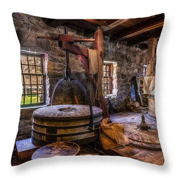 The Milling Room Throw Pillow