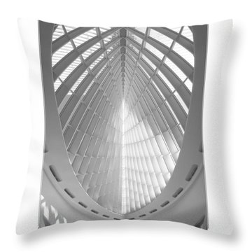 The Milwaukee Art Museum Throw Pillow by Mike McGlothlen